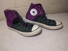 Girls CONVERSE Sneakers Shoes Purple Pink, Size 1 JUNIOR cheetah leopard