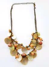 AVON SHELL AND BEAD NECKLACE, 46cm LENGTH, GOOD CONDITION