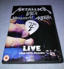 METALLICA SLAYER MEGADETH ANTHRAX BIG FOUR LIVE FROM SOFIA Bulgaria DVD RARE oop