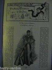 Ladies Fashion Dress Hats Costume Clothes Women Antique Victorian Article 1897