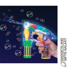 BUBBLE RAY GUN SCI-FI THEMED LIGHT UP LEDs toy gift novelty childs summer garden
