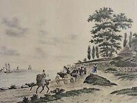 HAMBURG - NIENSTEDTEN - hand-kolorierte Lithographie um 1860 - SELTEN / RAR