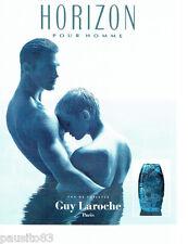 PUBLICITE ADVERTISING 096  1994  Guy Laroche eau toilette homme Horizon
