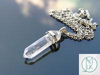 Rock Crystal Point Pendant Natural Gemstone Necklace Healing Stone Chakra Reiki