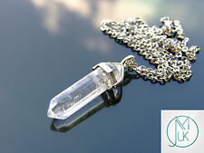 Rock Crystal Point Pendant Natural Gemstone Necklace Healing Stone Chakra Reiki