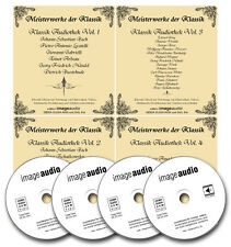 4 CDs - KLASSIK AUDIOTHEK - GEMAFREIE MUSIK LIZENZFREI ROYALTY FREE AKM FREI
