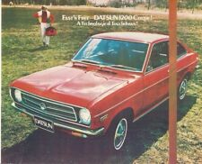 Datsun Nissan 1200 Sunny Coupe 1970-71 UK Market Launch Leaflet Brochure