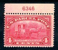 USAstamps Unused FVF US Parcel Post Plate # Single Rural Carrier Scott Q4 OG MH
