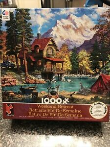 1000 Piece Puzzle (Weekend Retreat)bought New Made Once