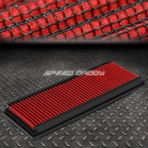 FOR 99-15 MERCEDES-BENZ V6/V8 RED REUSABLE&WASHABLE HIGH FLOW PANEL AIR FILTER