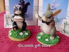 Charming Tails *Best Bunny & Ring Bearer* 82/103 & 82/104 Fitz & Floyd Mib Ret