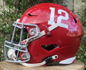 New! Custom Hand Painted Alabama Crimson Tide Riddell Speedflex Football Helmet