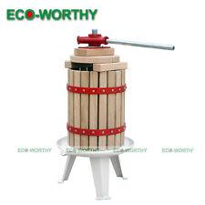 1.6Gallon/6L Fruit Wine Press Cider Apple Grape Crusher Juice Maker Tool Wood vv