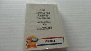 1993Fleer/procards  CHARLOTTE KNIGHTS  TEAM SET JIM THOME HOF C. MANUEL INDIANS