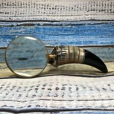 More details for magnifying glass horn made in india vibrant colors exotic culture vintage