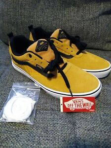Vans Kyle Walker Pro Skate Shoes Yellow Black Reflective Tiger Stripes Size 11.5