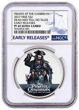 2017 Pirates Caribbean Dead Men Tell No Tales 1 oz. Silver NGC PF69 ER SKU47302