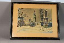Zeichnung , Friedhofsweg - Rahmen + Goldfarb. Innenrandleiste monogr. 1946 /S151