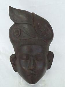 Antique Hand Carved Wood Mask