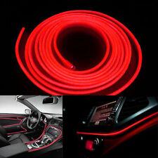 16.4ft/5M Car Panel Neon Lamp Strip Decorative Atmosphere Cold EL Light Red LED#