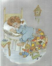 """Dufex Foil Picture Print - Girl Asleep - 8"""" x 10"""" size picture"""