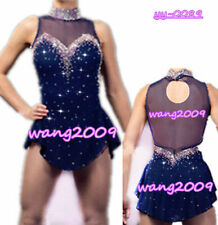 Ice Skating Dress Women Blue Figure Skating Dresses Custom Spandex