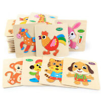 Wooden Puzzle Educational Developmental Baby Kids Training Toy For 12 Month-5Y