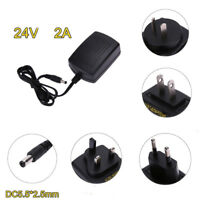 5.5*2.5mm AC 100V-240V to DC 24V Converter Power Supply Adapter US/AU/EU/UK Plug