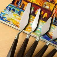 5Pcs/Set Stainless Steel Spatula Palette Knife Painting Mixing Scraper Tools
