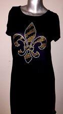 SALE! NEW!!  Tshirt Mini Dress With Fleur De Lis Size Juniors Large