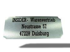 TÜRSCHILD POKALSCHILD aus Metall inkl. GRAVUR / LUFTVO Kennzeichnungspflicht