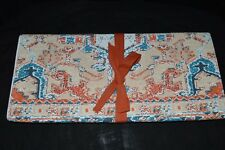 """TAG Block Print Fully Lined Table Runner 72"""" long X 14.5"""" Wide NEW Made in India"""