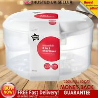 Tommee Tippee Essentials Microwave Steriliser Cold Water Hold 4 Bottles BPA FREE