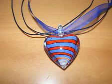 Markenlose Modeschmuck-Halsketten aus Glas Liebe & Herzen
