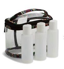 NWT Vera Bradley Kiev Paisley 3-1-1 Cosmetic Travel Bag W/ 3 0z Bottles TSA