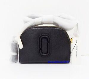 NWT Marc Jacobs Shutter Leather Crossbody Bag ~ Black/Gold ~ M0015468