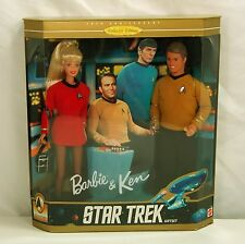 NIB BARBIE DOLL 1996 STAR TREK GIFT SET BARBIE & AND KEN