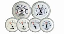 VEETHREE WHITE STERLING 6 GAUGE KIT WITH GPS SPEEDOMETER 69655  HOTROD/STREETROD
