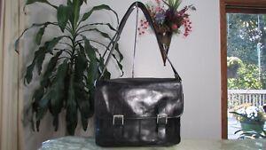 NWT Fossil Leather Men's Taner Messenger Crossbody Bag Black