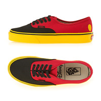 VANS X DISNEY Mickey Mouse Authentic RED Shoes Sneakers VN0A38EMUK9