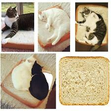 Pet Fashion Cartoon Bread Toast Cushion Soft Plush Cat Bed Small Dog Bed FW