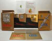 Legend of Zelda w/ Map & 1st Print II: Adventure of Link - Both CIB - NES-Tested