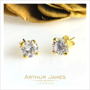 2 Ct Round Stud Earring Moissanite Solitaire Screw Gold Gemstone Gift for her