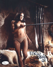 "(SSG) MARTINE BESWICK Signed 8X10 Color ""James Bond - 007"" Photo with a JSA COA"