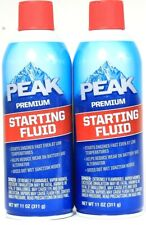 2 Ct Peak Premium 11 oz Starting Fluid Helps Reduce Wear On Battery & Alternator