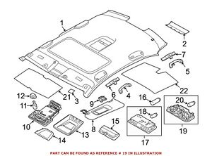 For BMW Genuine Reading Light Rear 63319321574