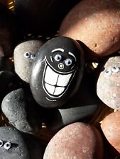 """Hand Painted Emoji Rock Art & Quote """"Heaven is Under Our Feet... on The Flipside"""