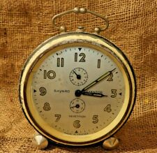 """Vintage """"Bayard Stentor"""" Alarm Clock Made In France Has Repetition off-white #48"""