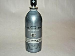 Bath & Body Works 1621 C.o. Bigelow Barber Body Spray - Elixir Black 4.2 oz