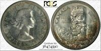 1958 CANADA $1 DOLLAR BU UNCIRCULATED PCGS MS63 COLOR TONED COIN IN HIGH GRADE